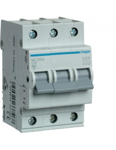 Автоматический выключатель MC310A 10А 3P С (6кА) Hager