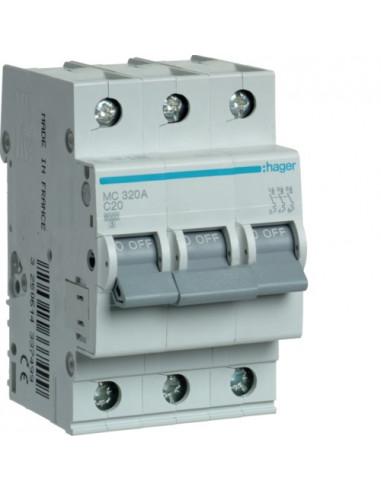 Автоматический выключатель MC320A 20А 3P С (6кА) Hager