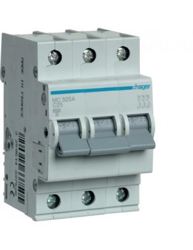 Автоматический выключатель MC325A 25А 3P С (6кА) Hager