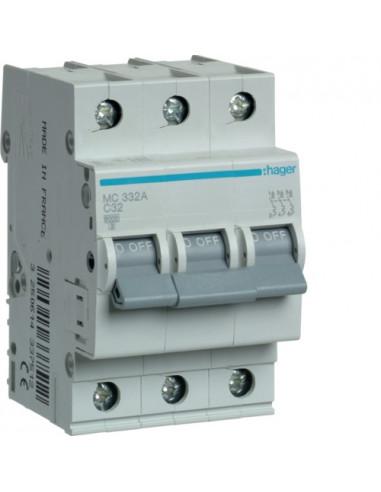 Автоматический выключатель MC332A 32А 3P C (6кА) Hager