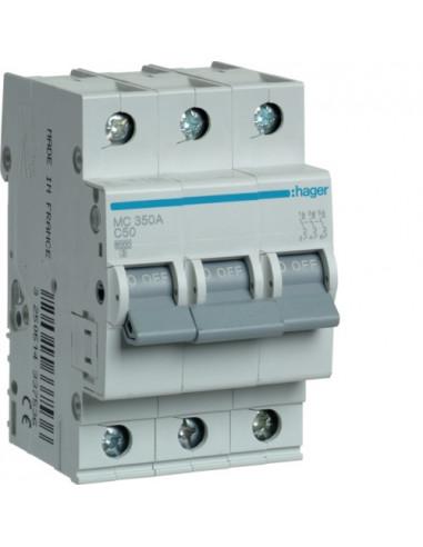 Автоматический выключатель MC350A 50А 3P С (6кА) Hager