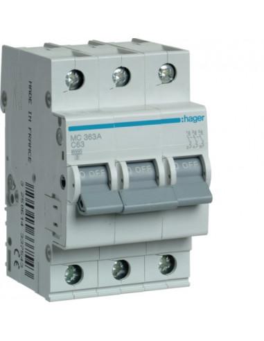Автоматический выключатель MC363A 63А 3P С (6кА) Hager