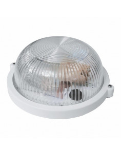 Светильник НПП-65 круг белый/прозрачный с рисунком