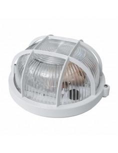 Светильник НПП-65 круг белый прозрачный с решеткой
