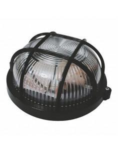 Светильник Ecostrum НПП-65 круг черный прозрачный с решеткой