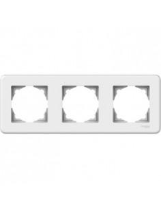 Рамка Schneider Electric Leona 3-местная горизонтальная белая