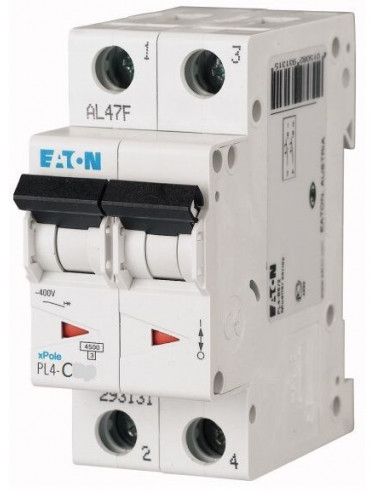 Автоматический выключатель PL4 2Р C 32А Eaton