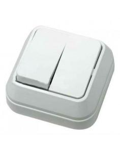Выключатель Makel 2кл накладной белый