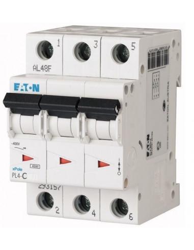 Автоматический выключатель PL4 3Р C 10А Eaton