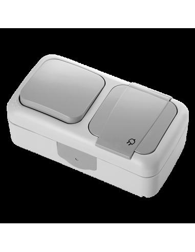 Блок VI-KO Palmiye выключатель 1кл + розетка с заземлением