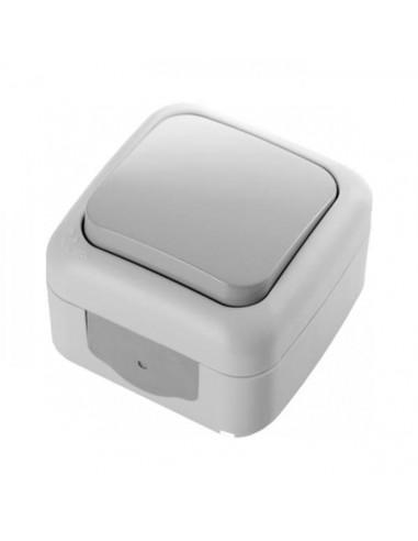 Выключатель VI-KO Palmiye 1кл проходной серый IP44