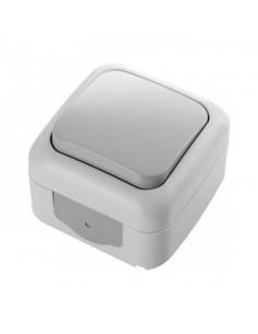 Выключатель VI-KO Palmiye 1кл серый IP44