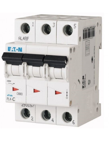 Автоматический выключатель PL4 3Р C 63А Eaton