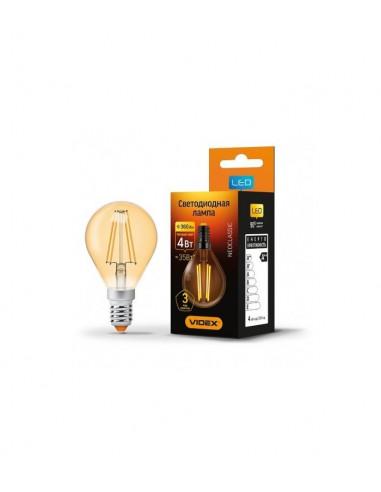 Лампа LED Filament G45FA 4w E14 2200K бронза Videx