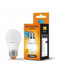 Светодиодная LED лампа Videx G45e 6w E27 3000K