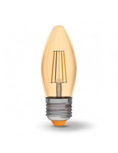 Лампа LED Filament C37FA 4w E27 2200K бронза Videx