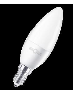 Светодиодная LED лампа Biom BT-570 C37 7W E14 4500К матовая