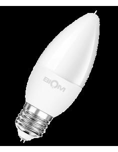 Светодиодная LED лампа Biom BT-567 C37 7W E27 3000К матовая
