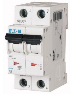 Автоматический выключатель PL6 2Р С 10А Eaton