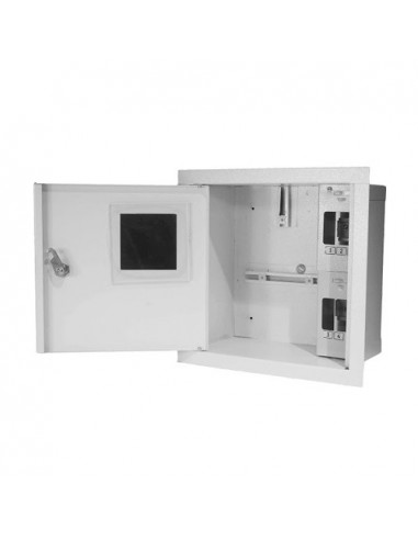 Шкаф под однофазный счетчик 4 авт 235х260х136 ШМР-1Ф-4А-В Лоза