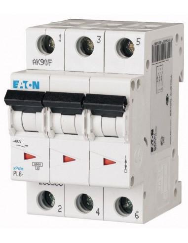 Автоматический выключатель PL6 3Р C 6А Eaton