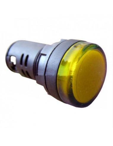 Сигнальна арматура желтая AD22-22DS 24В AC/DC