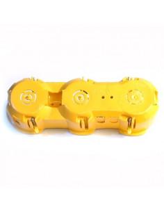 Коробка установочная KME-3 бетон Альянс желтая