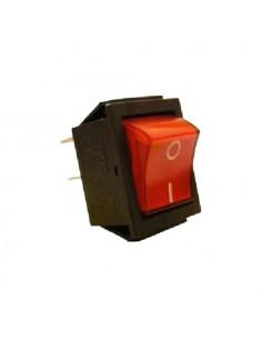 Переключатель 1кл красный с подсветкой KCD7
