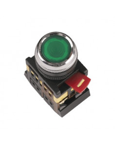 Кнопка ABLFP-22 зеленая d22 240В IEK