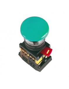 Кнопка AEAL22 гриб с фиксацией зеленая d22 240В 1з+1р ІЕК