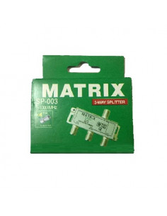 "Сплиттер для антенного кабеля ""Матрикс"" в коробке А-3 с гайкой"