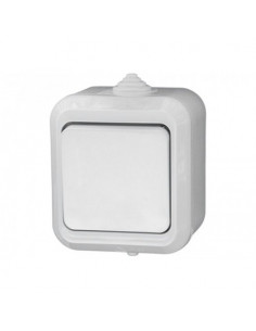 Выключатель Makel 1кл белый IP44