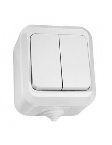 Выключатель Makel 2кл белый IP44