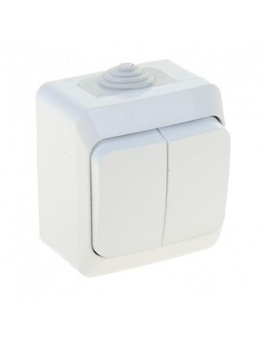 Выключатель Makel 2кл белый IP55