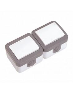 Блок Baysal Alfa выключатель 1кл + розетка с заземлением IP44