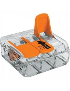 Клемма WAGO 3-конт д/распред коробок, универсальная, 0,2-4 мм2