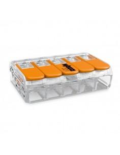 Клемма WAGO 5-конт д/распред коробок, универсальная,0,2-4 мм2