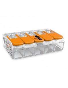 Клемма WAGO 5-конт д/распред коробок, универсальная, 0,5-6 мм2