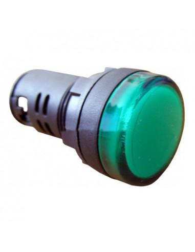 Сигнальна арматура зеленая AD22-22DS 24В AC/DC