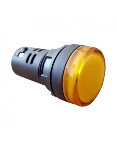 Сигнальна арматура желтая AD22-22DS 220В AC