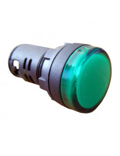 Сигнальна арматура зеленая AD22-22DS 220В AC