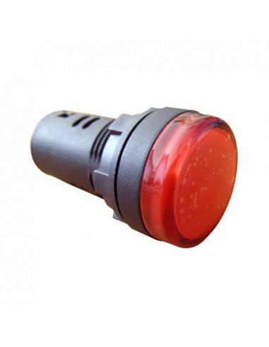 Сигнальна арматура красная AD22-22DS 220В AC