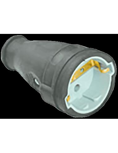 Роз'єм 1х16А каучук Baysal