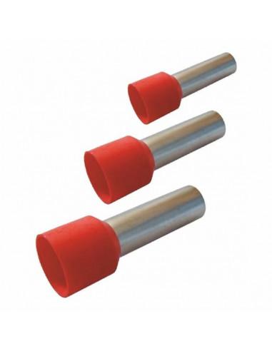 Наконечник кабельный трубчатый НТ 2.5-08 красный