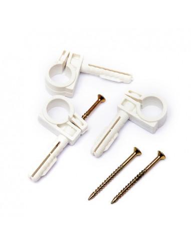 Обойма для труб и кабеля d15-16 с ударным шурупом (50шт)