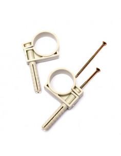 Обойма для труб и кабеля d25-27 с ударным шурупом (25шт)