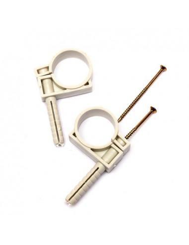 Обойма для труб и кабеля d50 с ударным шурупом (25шт)