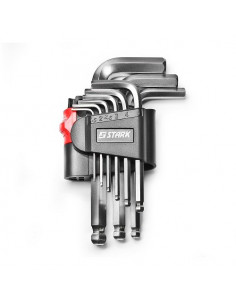 Набор шестигранных ключей Stark 9 шт. с шарикообразным наконечником (522001009)
