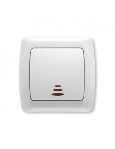 Выключатель 1кл с подсветкой белый VI-KO Carmen