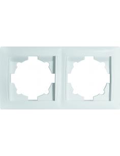 Рамка 2-местная Титан белая